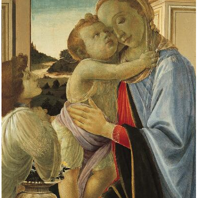 Botticelli: Madonna With Child And Adoring Angel