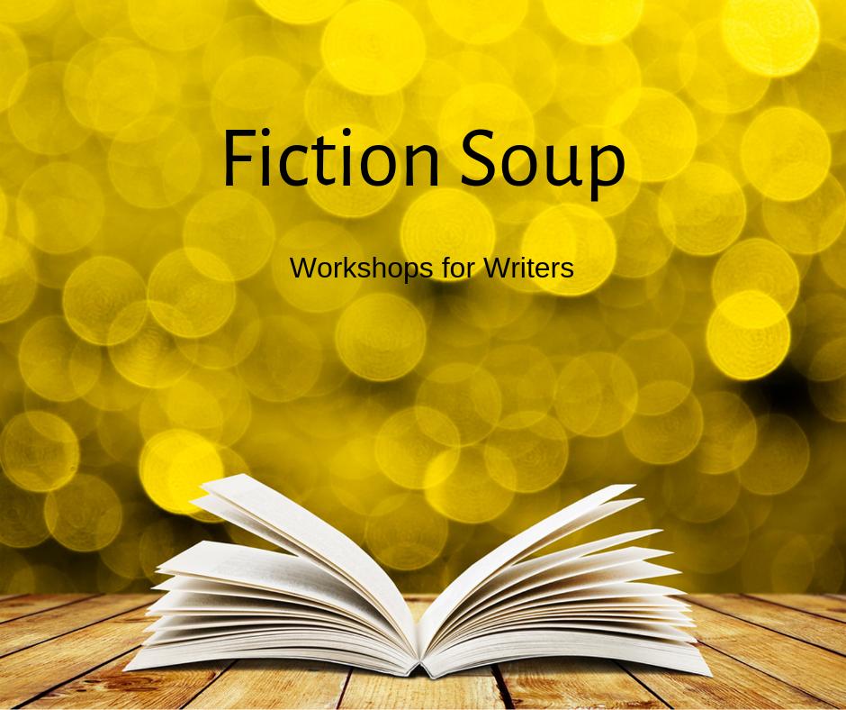 Fiction Soup yellow open book