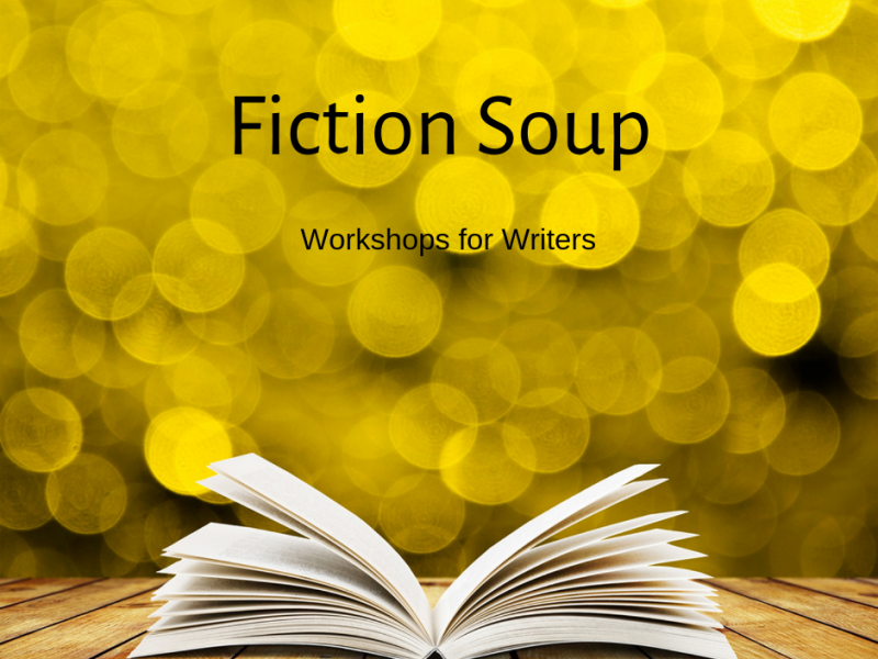 Fiction Soup yellow open book